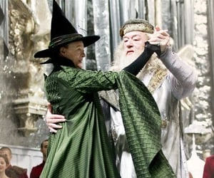 harry potter, dance, and dumbledore image