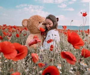 girls, photography, and teddy bear image