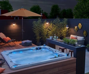 decor, home, and hot tub image