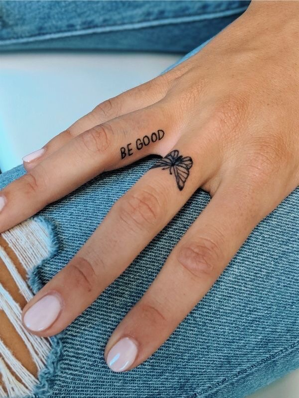 tattoo, butterfly, and nails image