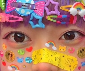 cute, kawaii, and rainbow image