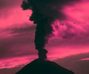 background, volcano, and wallpaper image