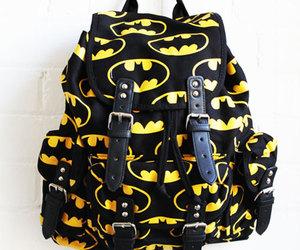 batman, bag, and black image