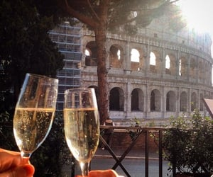 champagne, italy, and rome image