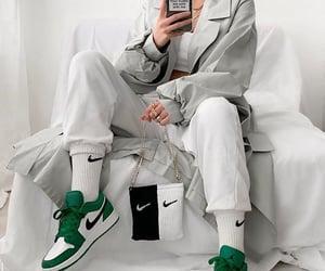 footwear, mirror selfie, and low top sneakers image