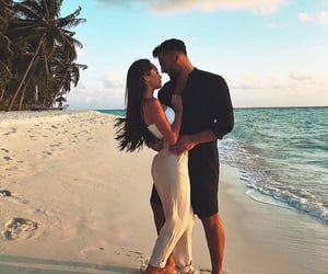 Relationship, couple, and beach image
