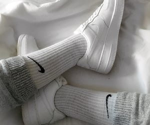 grey, sneakers, and white image
