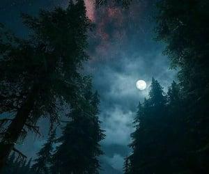 far away, moon, and sky image