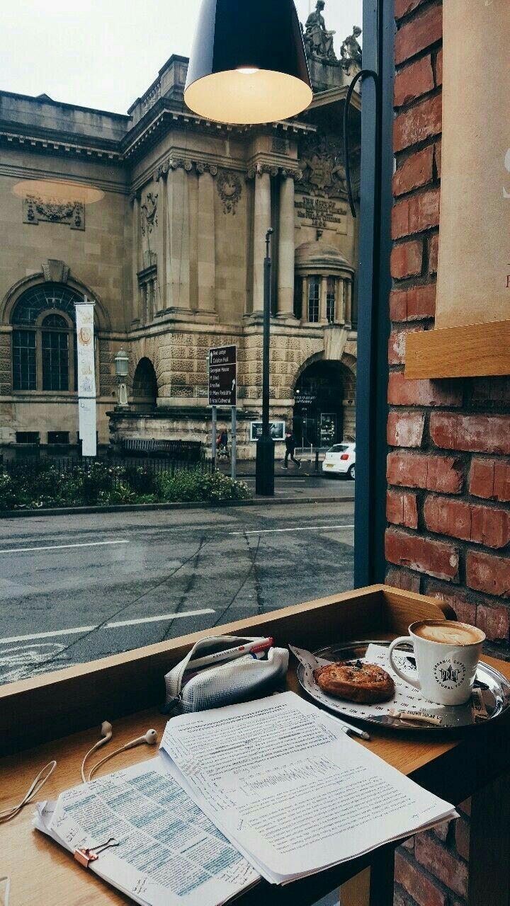 study, coffee, and city image