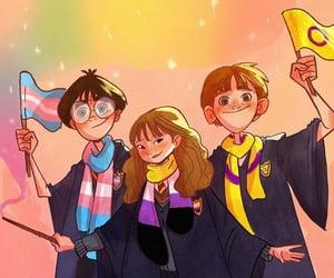 fanart, harry potter, and hermione granger image