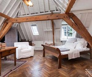 bedroom, attic, and interior image