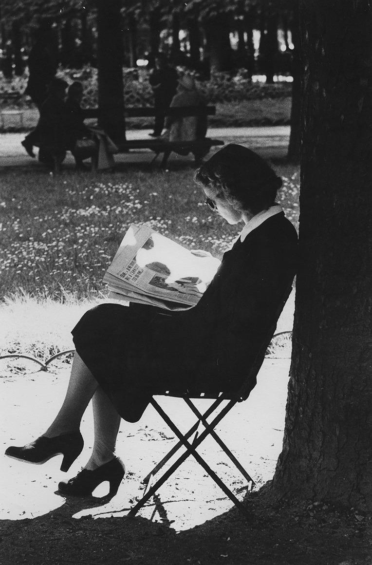newspaper, paris, and park image