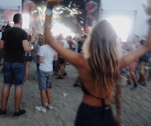 girl, festival, and music image