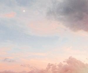 cloud, moon, and sky image