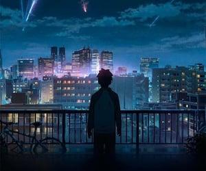 anime, wallpaper, and sky image