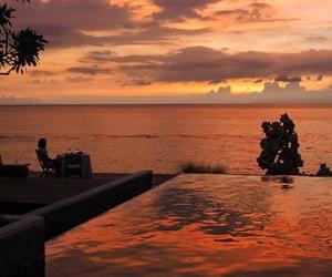 sunset, orange, and aesthetic image