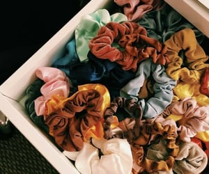 scrunchies, aesthetic, and accessories image