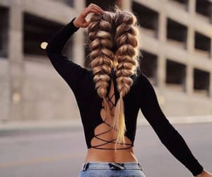 braid, hairstyle, and style image