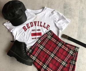 grunge, skirt, and style image