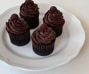 chocolate, cupcakes, and food image