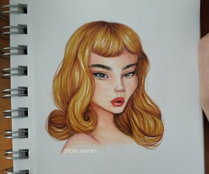 art, drawing girl, and girl image
