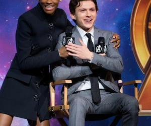 tom holland and letitia wright image