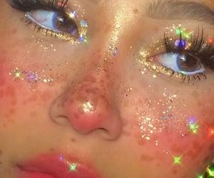 aesthetic, girl, and glitter image