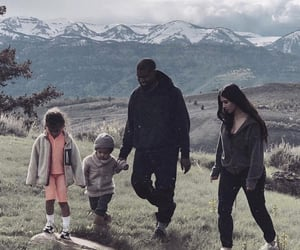 north west, chicago west, and kanye west image