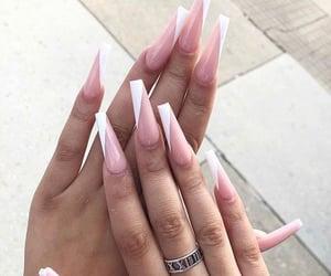 acrylics, long, and nails image