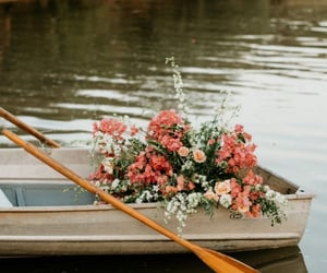 flowers and boat image