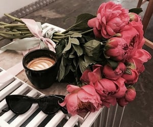 coffee, fashion, and flowers image