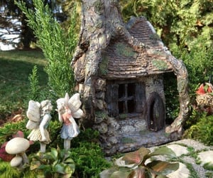 cottage, Fairies, and fairy house image