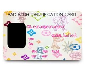 meme, y2k, and id card image