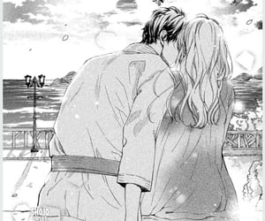 black and white, manga, and manga shojo image