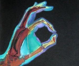 hand, art, and x-ray image