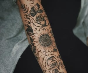 arm, ink, and rose image