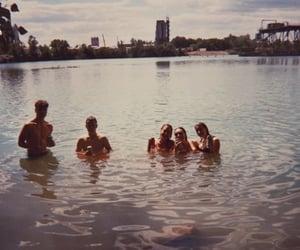analog, lake, and drinking image