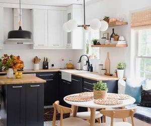 farmhouse kitchen and bohemian kitchen image