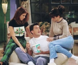 friends, chandler, and monica image