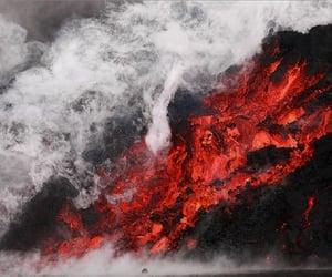 fimmvörðuháls, lava, and volcano image
