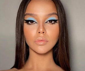 blue, girl, and eyeliner image