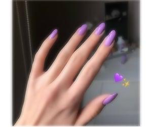 nails, purple, and اضافر image