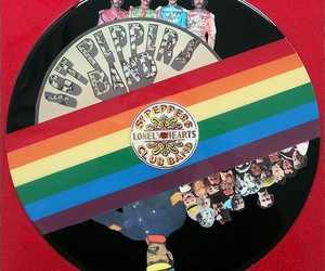 beatles, color, and lp image