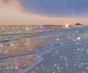 aesthetic, glitter, and ocean image