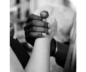 black and white, couple, and equality image