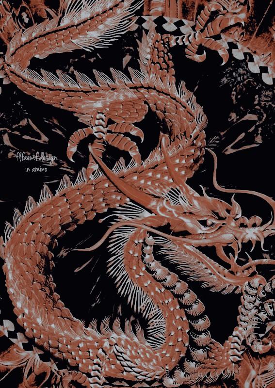 theme, dragon, and gold image