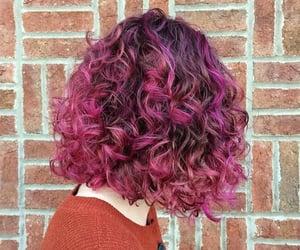 haircut, bob hair, and curlyhair image
