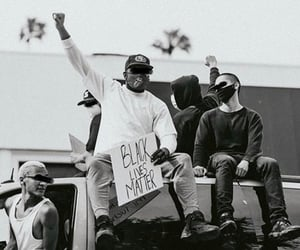 america, black and white, and gang image
