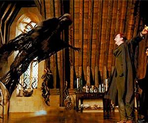 gif, moon, and dementor image
