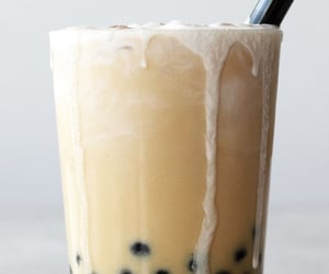 boba, drink, and milk image